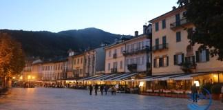 L'infilata dei portici sul lungolago di Cannobio
