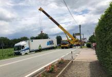 Camion fuori strada a Romagnano
