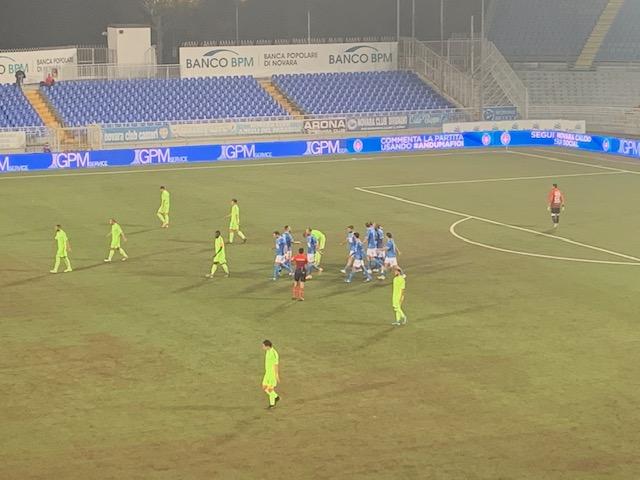 Novara-Carrarese 1 a 1