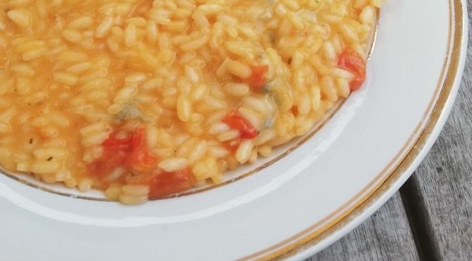 Risotto al gorgonzola e pomodorini