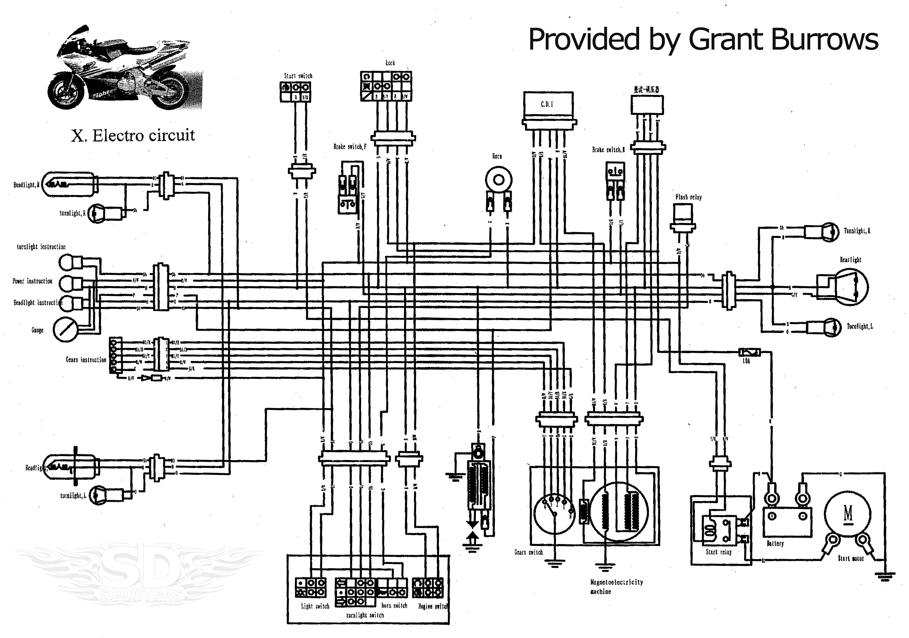 goped gas scooter wiring diagram gas scooter cylinder head
