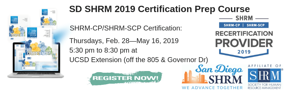 2019 Spring Shrm Cp Scp 12 Week Prep Course Registration