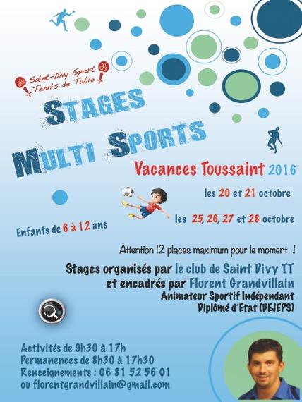 Les stages multisport des vacances de la toussaint sont disponibles sdstt - Vacances de la toussaint 2016 ...