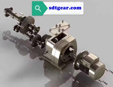 inline gear reducer with motor exploded view