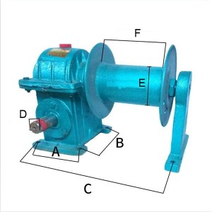 WD series worm gearbox for grain lifting machine dimension size
