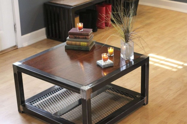 20 ideas of wood and steel coffee table