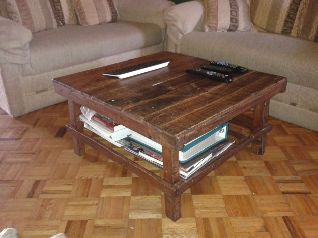 gallery of rustic storage diy coffee tables (view 16 of 20 photos)
