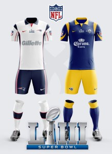 What would the Superbowl LIII Uniforms look like as Soccer Kits