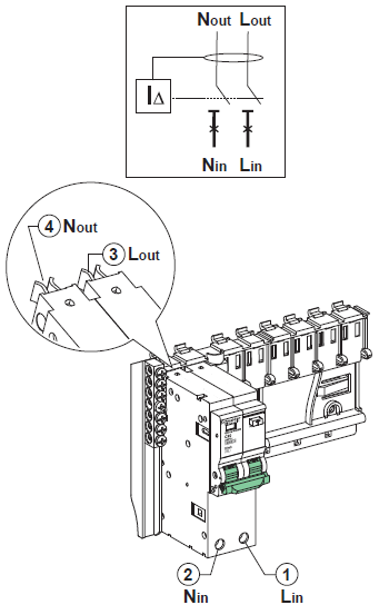 rcbo 2 poles wiring and connection  certificate of products