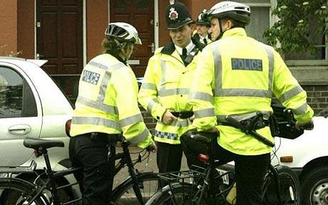 Police on bikes in London