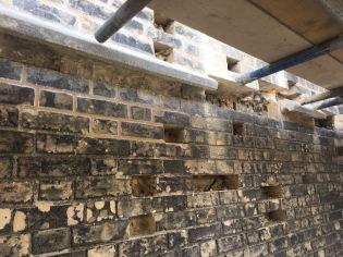 Photo church exterior wall repair Jan 2018
