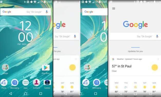تحديث واجهة الشاشة الرئيسية لأجهزة Sony Xperia مع دعم كامل لتطبيقات جوجل