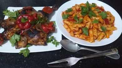 Photo of دجاج مشوي ومكرونة بالصلصة