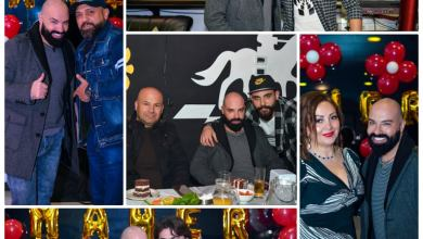 صورة ماهر الشيخ في دمشق لأول مرة يحتفل بعيد ميلاده وسط أهل الفن والإعلام
