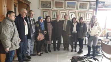 Photo of المعرض الفني الأول في صالة الفنان المهندس حسن عمران في حمين