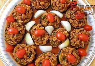 صورة باذنجان باللحم المفروم بطريقة شهية