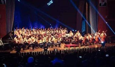 صورة اوركسترا مديرية الثقافة للاستاذ حسان اللباد