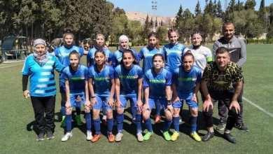 صورة تتويج فريق الخابور ببطولة الدوري السوري بكرة القدم للسيدات