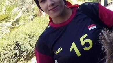 """صورة اللاعبة والمدربة السورية شامية حمدان """" جمال كرة القدم بأنها تحمل جميع الاحاسيس"""""""