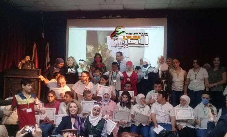 """فريق لمة أمل التطوعي يكرم أطفال ذوي الهمم ضمن حفل فني بعنوان """"أكيد منقدر"""