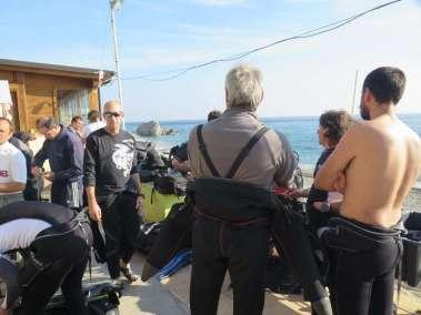 Preparativi prima dell'immersione