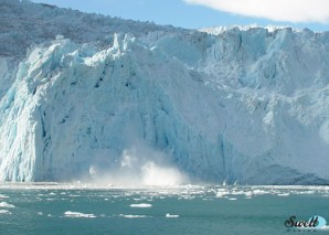 Aialik Glacier, a tidewater glacier located in Kenai Fjords National Park.