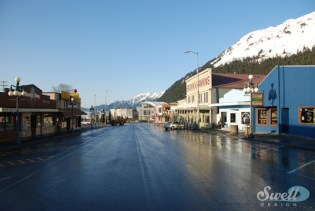 Downtown Seward, spring, 2012.