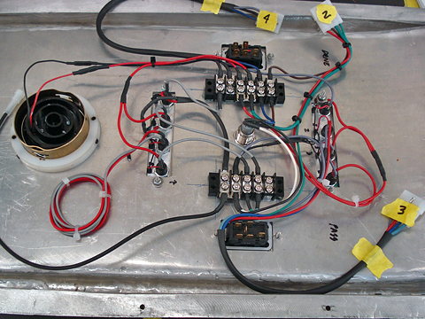 Control console wiring