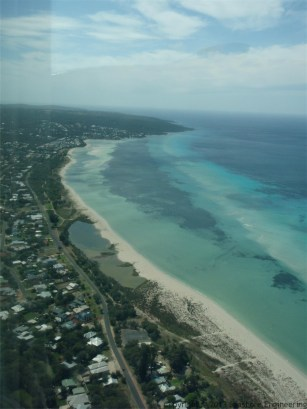 Aerial view of Busselton's Coastline