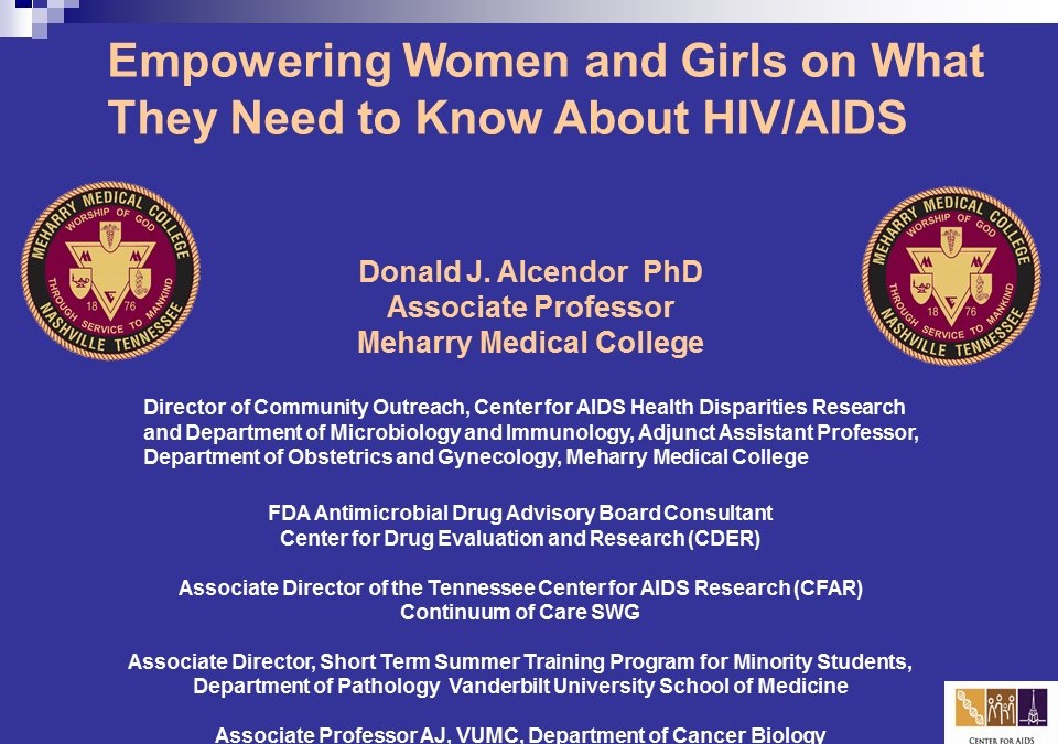 Webinar: Empowering Women and Girls on What They Need to Know About HIV/AIDS