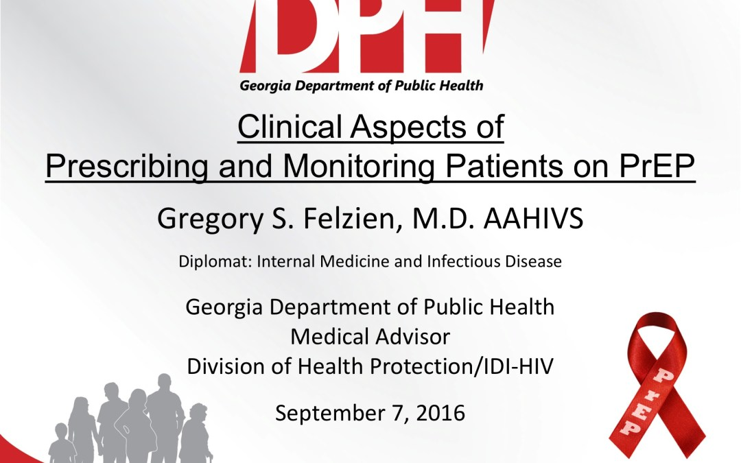 Webinar: Clinical Aspects of Prescribing and Monitoring Patients on PrEP