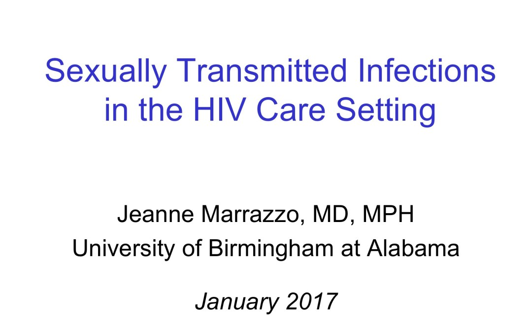 Webinar: Sexually Transmitted Infections in the HIV Care Setting