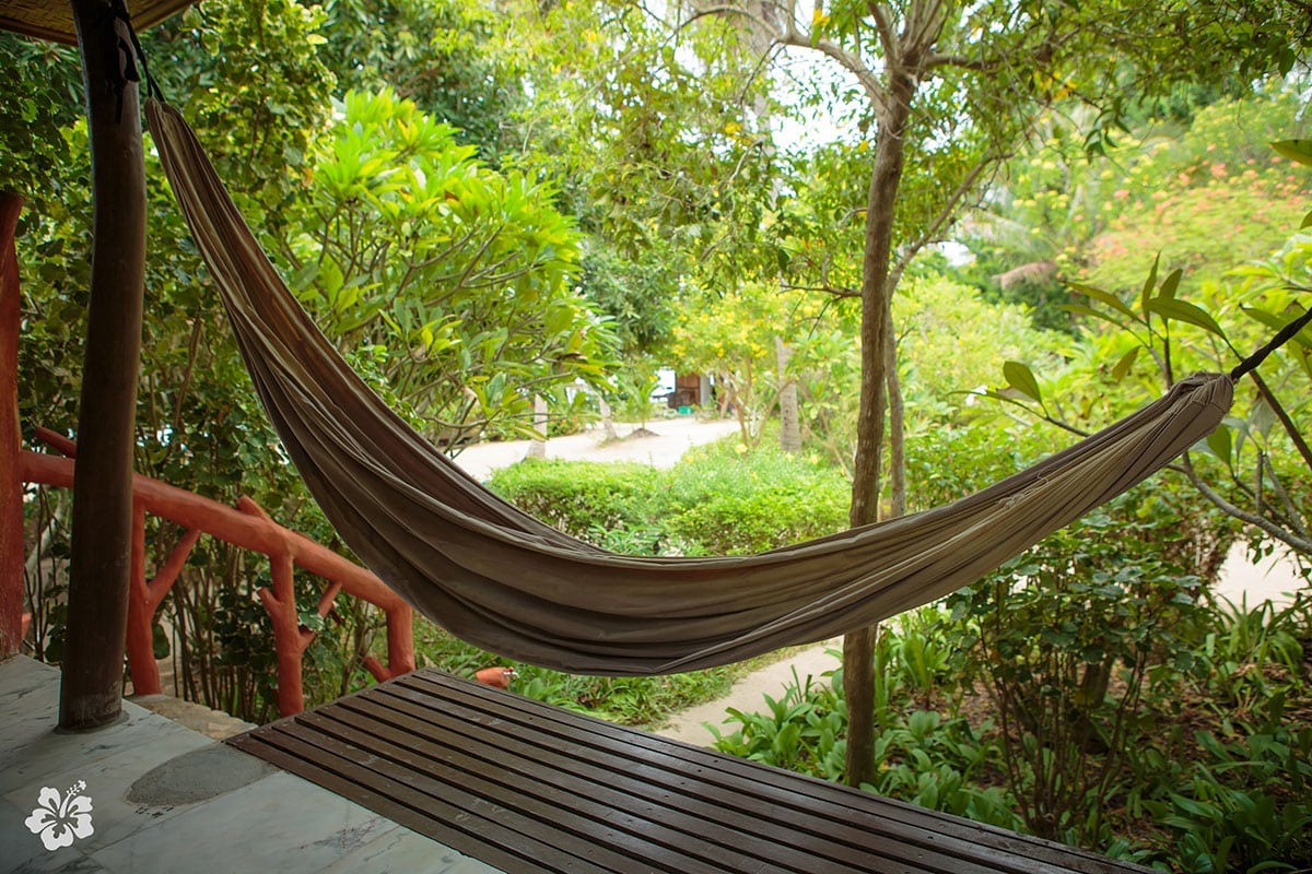 Hammock On Porch Beach Resort Hostel Koh Phangan