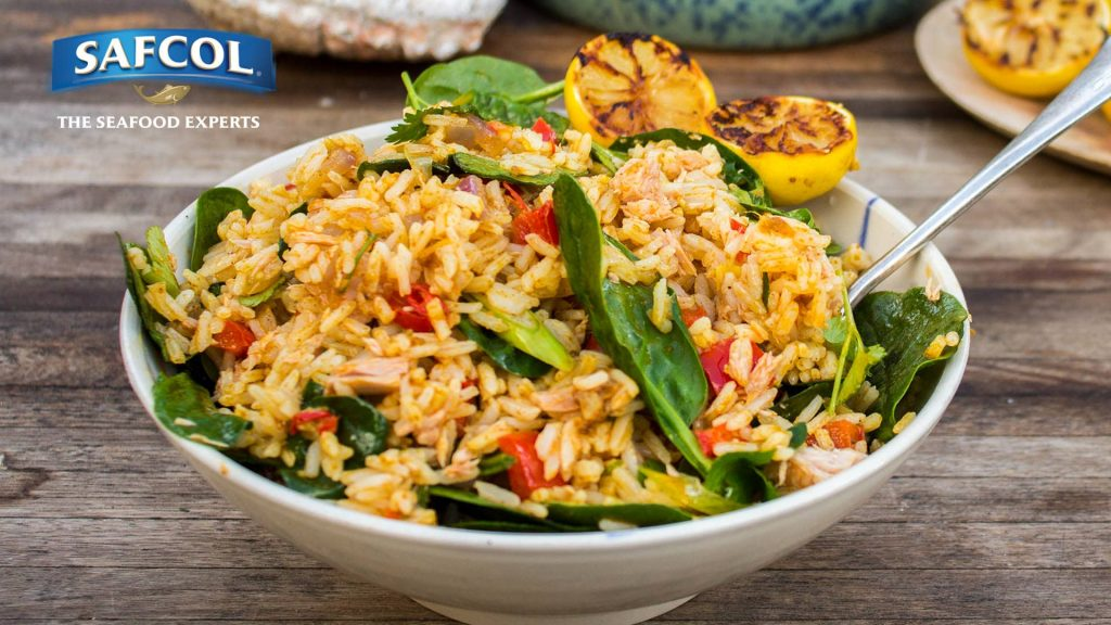 Spiced rice with tuna