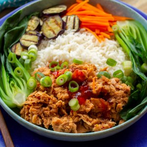 Thai sweet chilli tuna rice bowl
