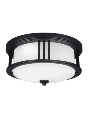 7847991S 12 LED Outdoor Ceiling Flush Mount Black