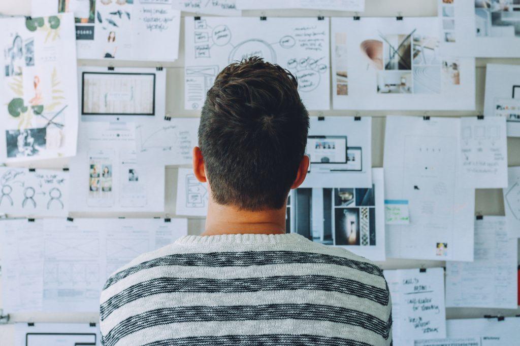 man planning design