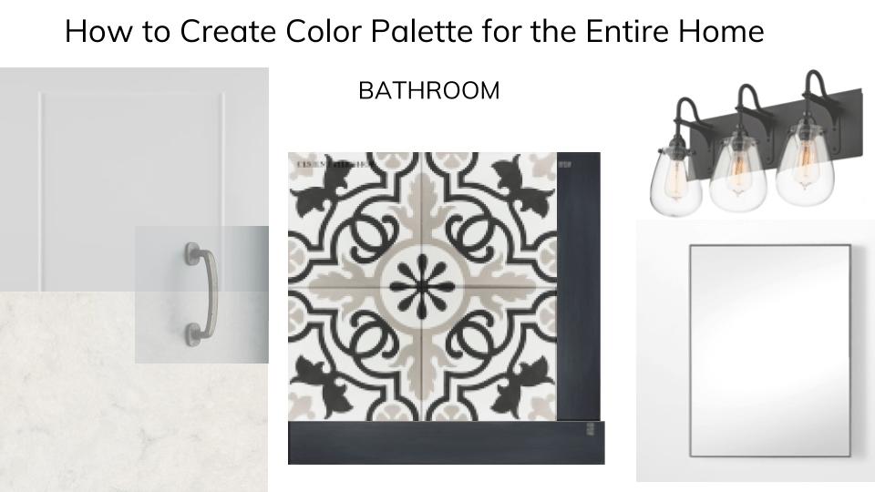 color platte for bathroom