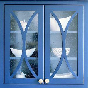 Kitchen Renovation - blue cabinet