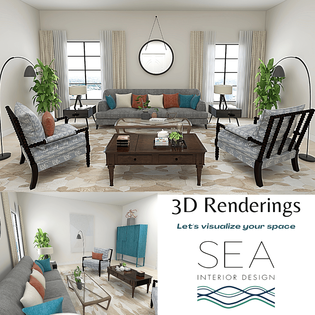 graphic showing 3D renderings