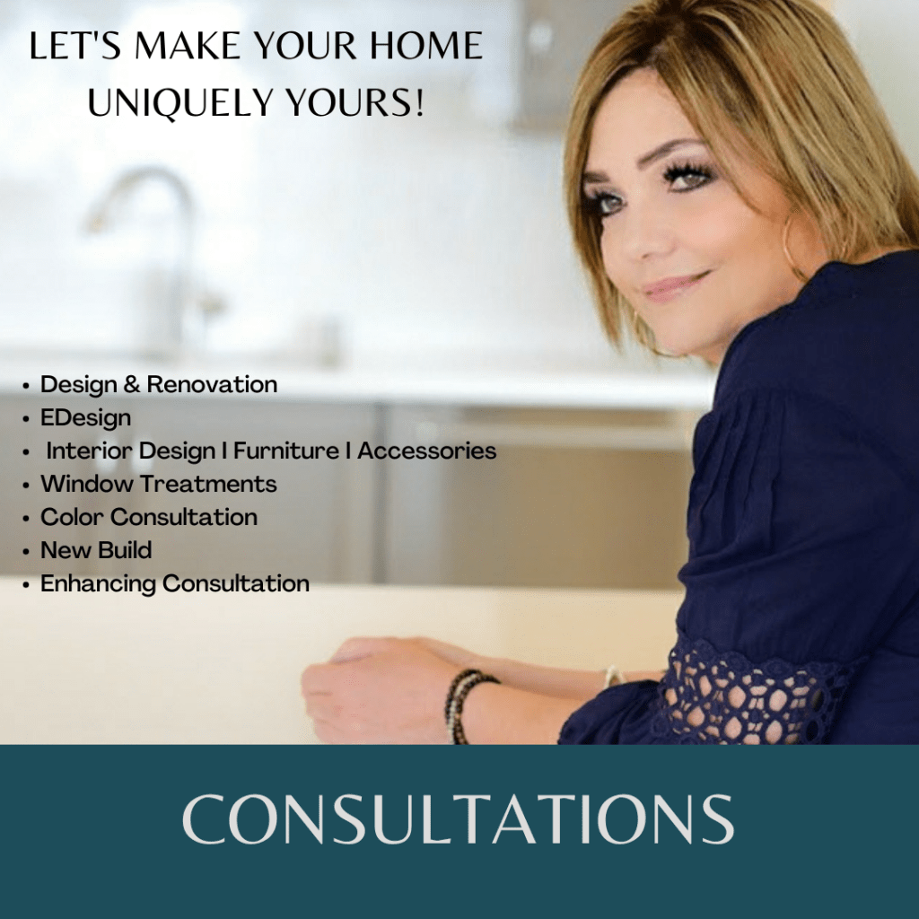 Graphic for consultations with a list and a picture of me