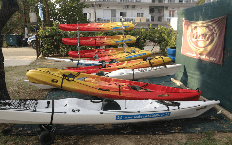 Sea Kayak Halkidiki equipment rentals