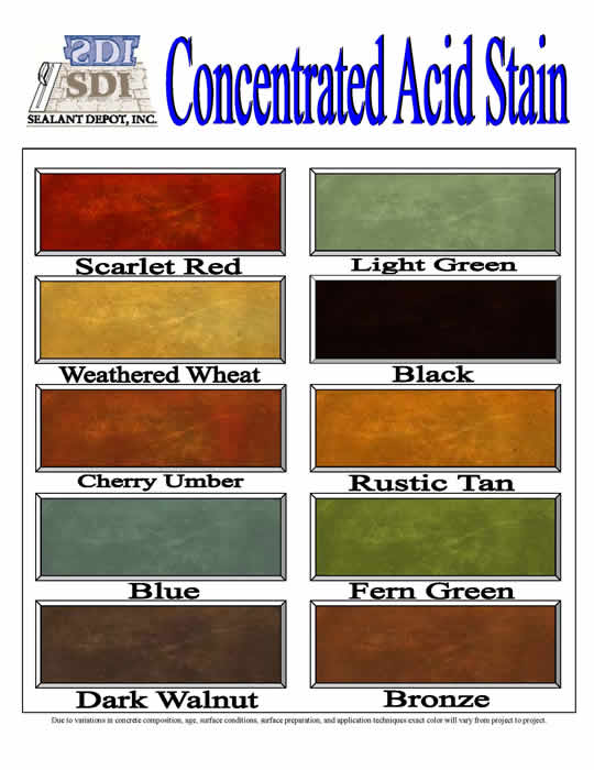 Concrete Stains and Dyes   Buy Online - Sealant Depot