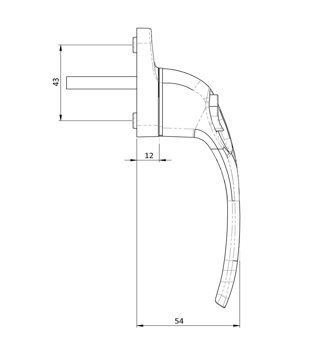 Endurance Inline Locking Window Handles 30mm
