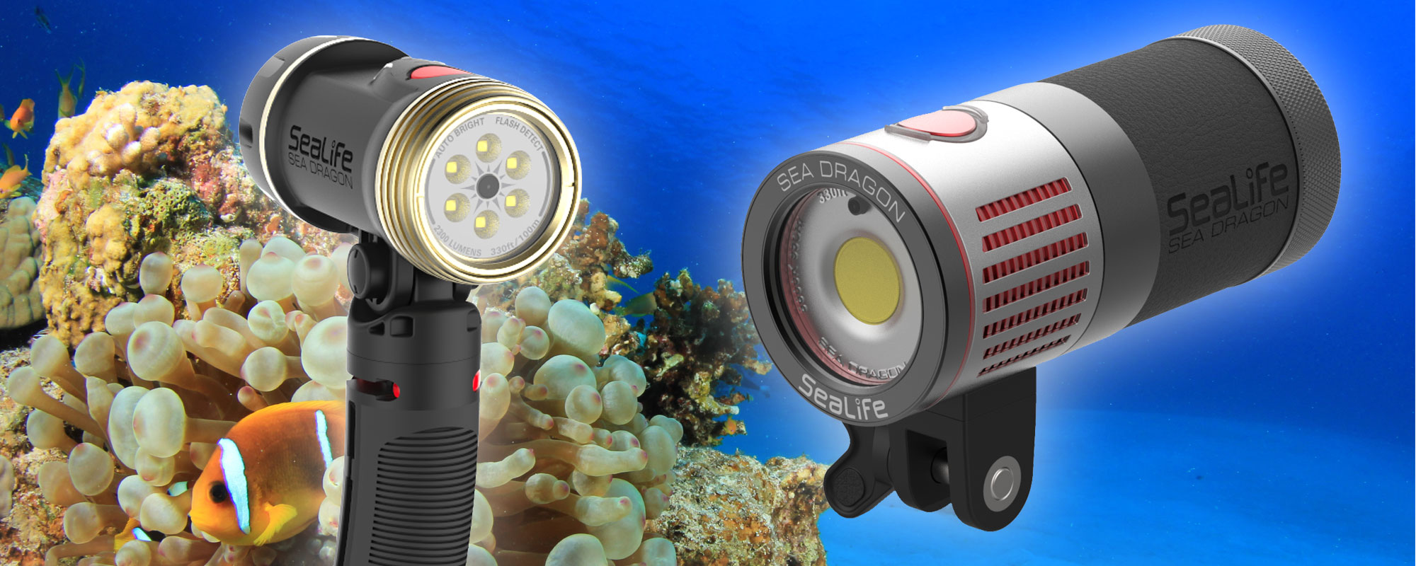 Sea Dragon underwater auto lights