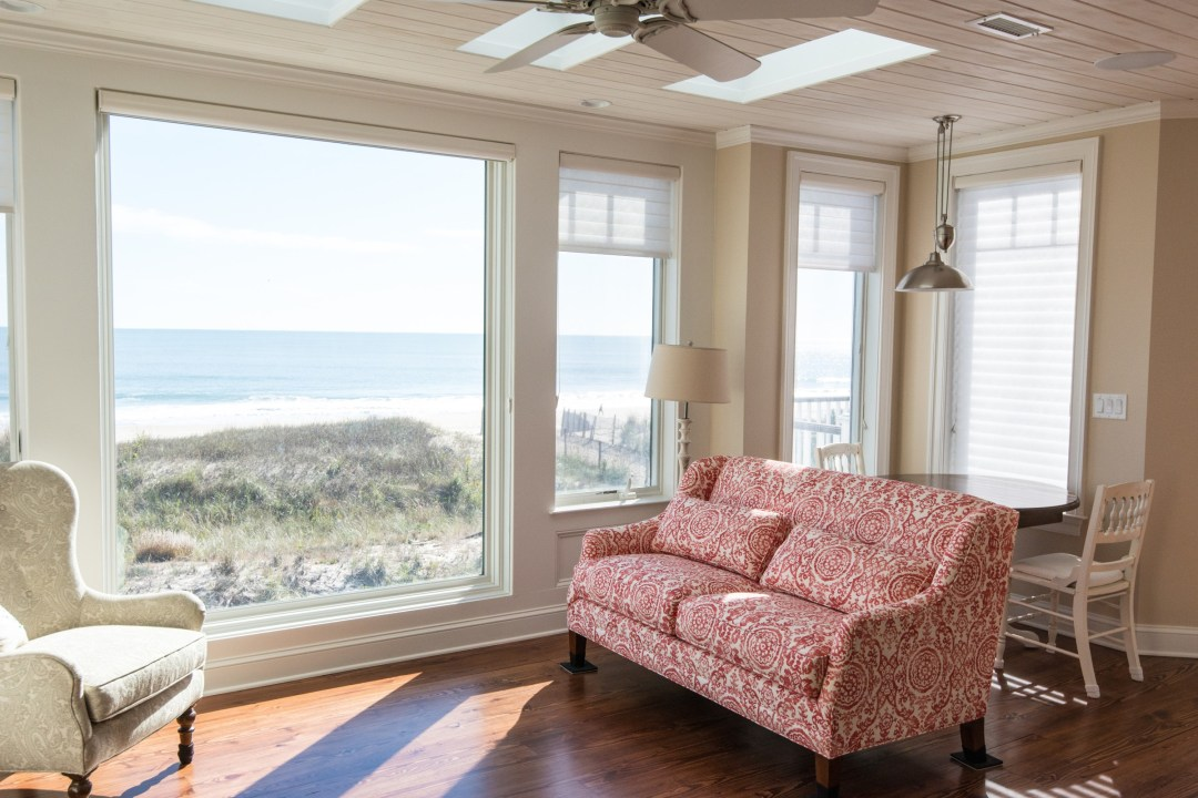 Bunting New Addition in Fenwick Island DE with Wood Ceiling and Beach View