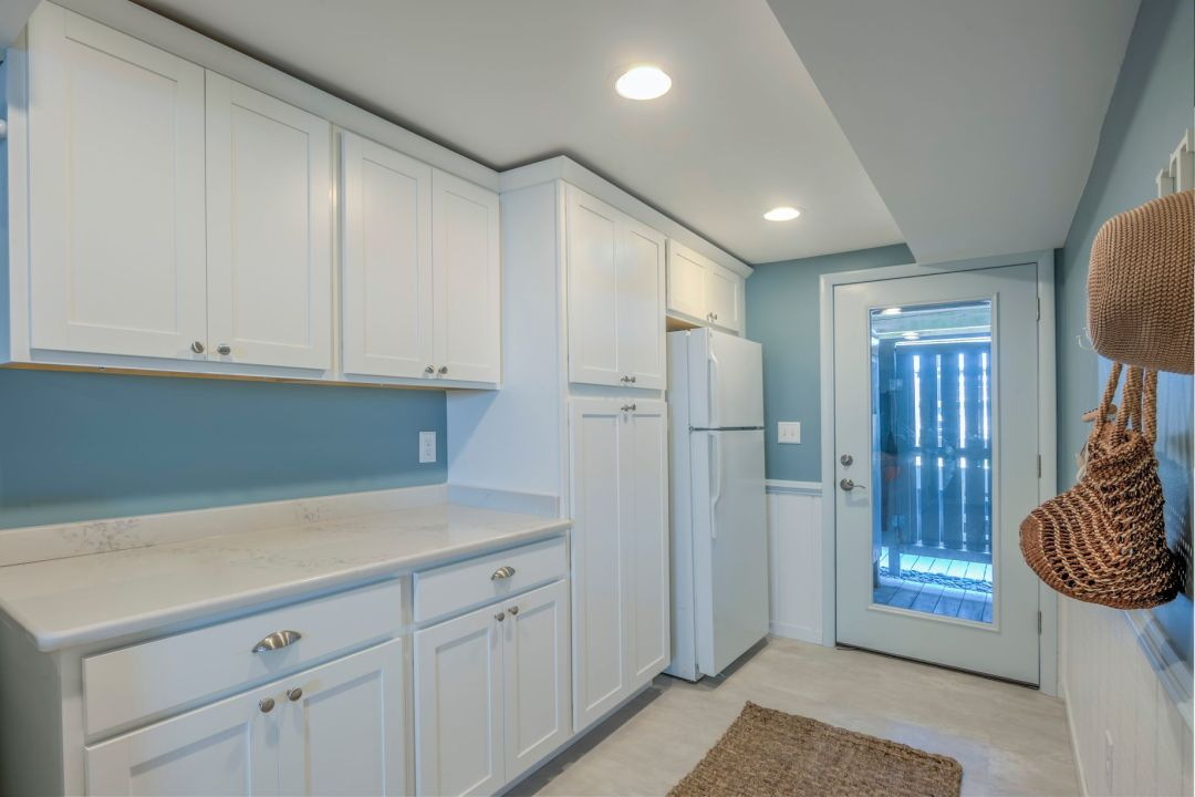 Renovation in Campbell Place, Bethany Beach DE with Fridge and Food Storage Cabinet Area
