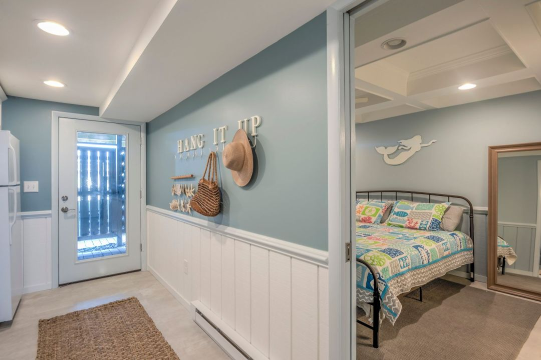Renovation in Campbell Place, Bethany Beach DE - Hallway with View of Bedroom