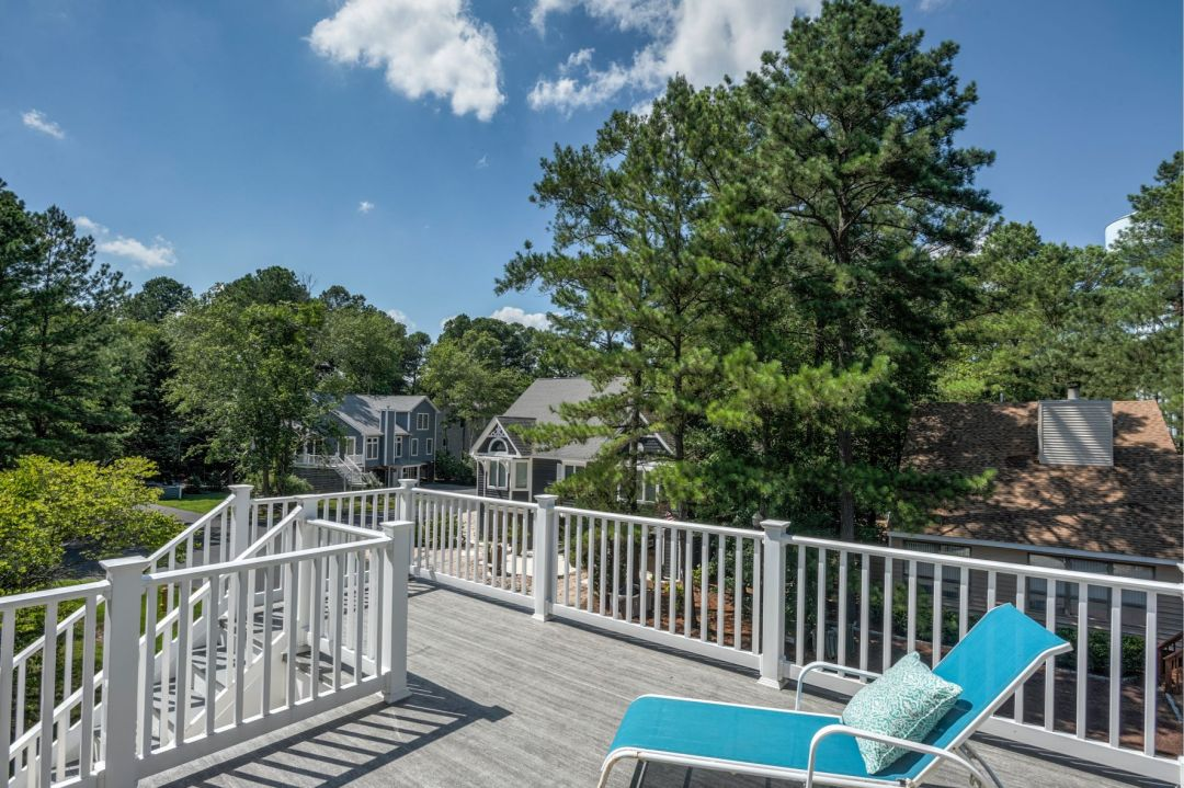 Deck Addition in Canal Drive, Millsboro DE with Deck Chair