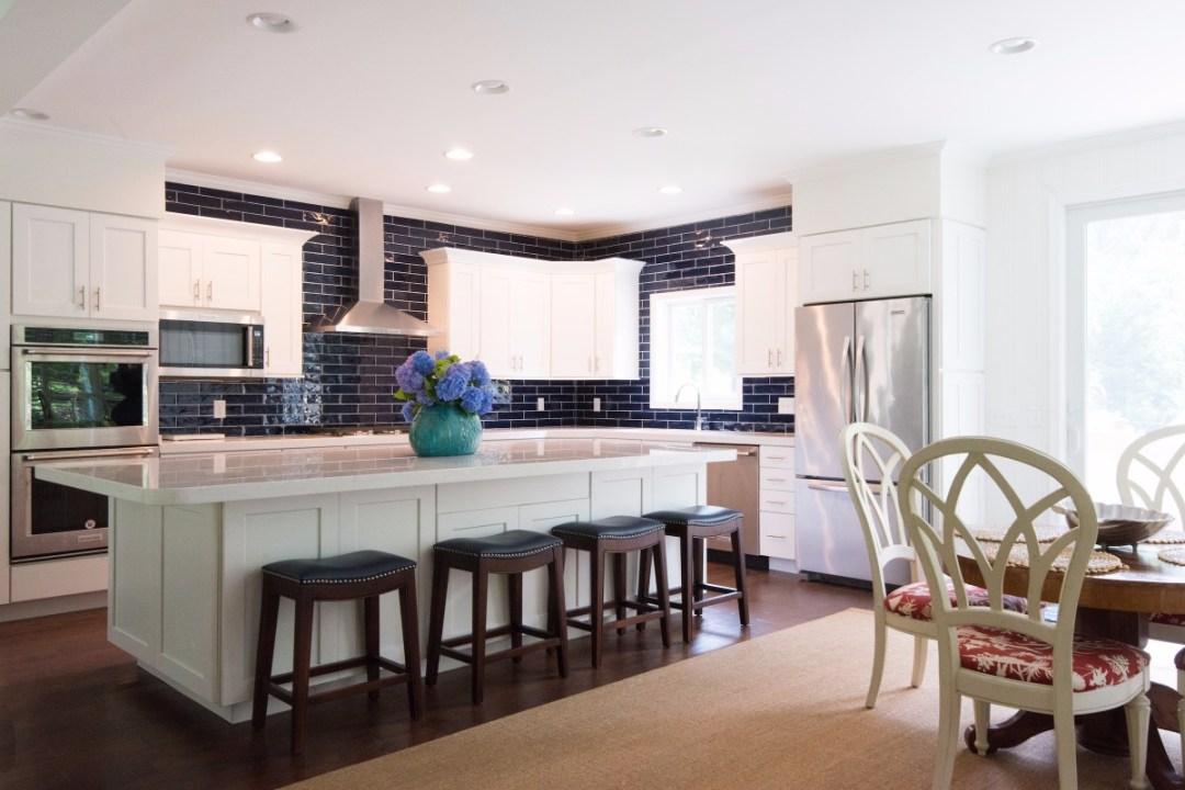 Contemporary Kitchen Remodel in Jefferson Bridge, Bethany Beach DE with White Carrara Marble Countertop
